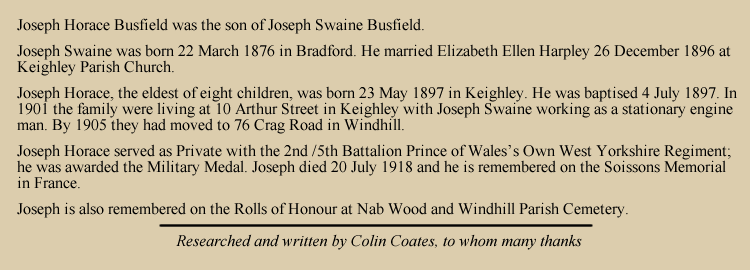 Joseph Horace Busfield
