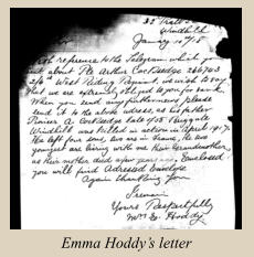 Emma Hoddy's letter